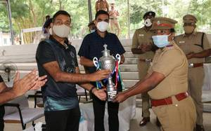 Chennai woman Police Inspector wins shooting competition