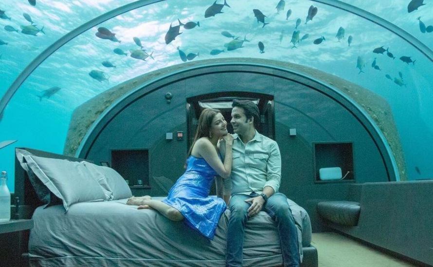 Kajal Aggarwal And Gautam Kitchlu's Underwater Resort Sets Real Couple Goals